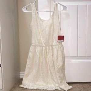 Creme Lace Tank Top Dress